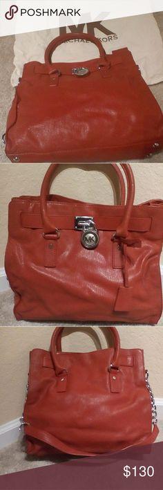 Michael kors Hamilton Red leather bag Large red leather bag Michael Kors Bags