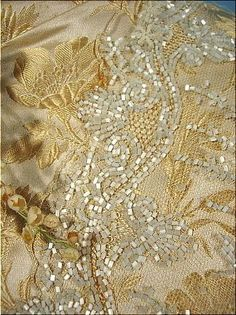 beaded embroidery on garment