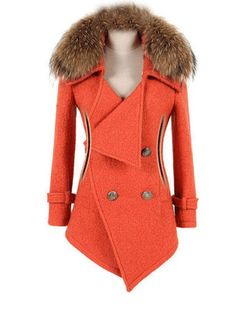 Classical Breasted Fur Collar Overcoats Only $40.95 USD More info...