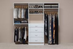 Custom-Reach-In-Closets-by-Mountain-Sky-Closets Clothes Rack: Hanging, Free Standing, Wooden, Metal, and more
