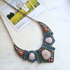 Beautiful statement necklace Choker bib Necklace Hwl boutique Jewelry Necklaces
