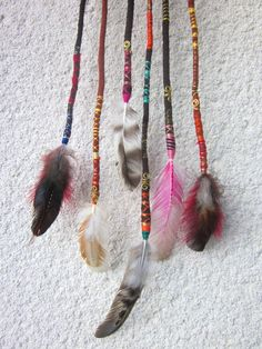 hair wraps with feathers