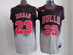 adidas nba chicago bulls #23 jordan black-gery jerseys