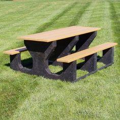 Jayhawk Plastics Commercial Rectangular Picnic Table - Modern - Kids Tables - Hayneedle