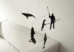 Papier Mobilee, Fischfang, Überfischung der Meere