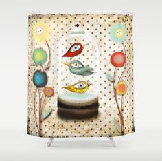 Shower Curtain  Free but in my own way by rupydetequila on Etsy