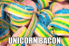 I love bacon. I love unicorns. This is the perfect match ! (;