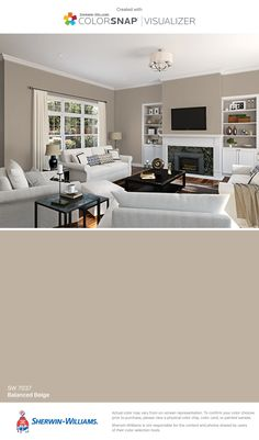 I found this color with ColorSnap® Visualizer for iPhone by Sherwin-Williams: Balanced Beige (SW 7037).