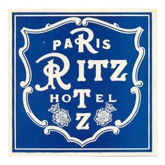Ritz Paris.