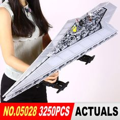 LEPIN 05028 Star Wars Execytor Super Star Destroyer Model 3250PcsBuilding Kit architecture Block Brick Compatible 10221 Boys Gif
