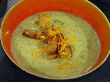 Broccoli and Cheese Soup with Croutons Recipe