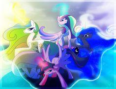 The four princesses.