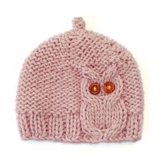 Pink Owl Cable Knit Hat by laceandcable on Etsy. Reasonable price for the pattern. Pin leads back to Etsy. Knitting For Kids, Baby Knitting Patterns, Loom Knitting, Knitting Projects, Crochet Projects, Crochet Patterns, Free Knitting, Diy Projects, Knitted Owl