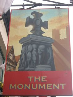 The Monument Pub Sign