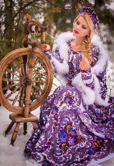 Cotton dress | Хлопковое платье в русском стиле. https://www.livemaster.com/hotpiterstyle