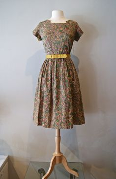 50s Dress // Vintage 1950s Nuts About Nuts by xtabayvintage, $148.00