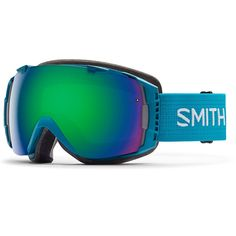 Smith Optics I/O Goggles (Pacific,Green Sol X Mirror). QuickFit strap adjustment system with clip buckle. 3-layer DriWix face foam. Helmet compatible. Ultra-wide, silicone backed strap. Spherical carbonic-x lens.
