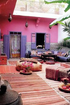 "Taking Rugs Outdoors To Make Comfortable, Colorful ""Rooms"""