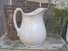 . . . Cabin & Cottage : Classic Ironstone Pitchers