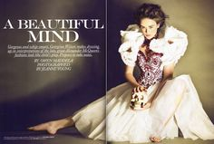 Fashion Media Philippines: Georgina Wilson in an Alexander McQueen Editorial Tribute for Preview Magazine (June 2010) by Jeanne Young
