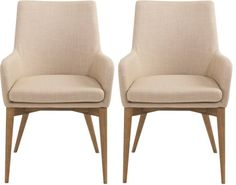 Tan Calais Armchairs, Pair
