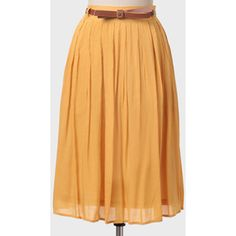Ruche Southern Blossom Skirt In Mustard