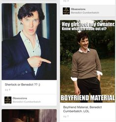 Ben agrees with himself. Boyfriend material, indeed. :)