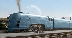New York Central's Mercury was NYC's entry into the streamliner market. Debuting in June, 1936 it used rebuilt heavyweight cars and a locomotive. Mercury, Art Nouveau, New York Central Railroad, Train Posters, Car Camper, Rail Car, Old Trains, Mustang Fastback, Model Train Layouts