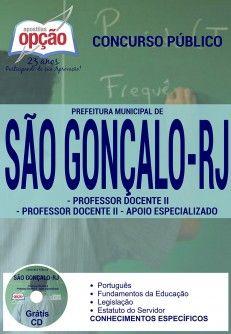 Promoção -  Apostila Concurso São Gonçalo RJ - Vários Cargos  #concursos Saiba como adquirir a sua http://apostilasdacris.com.br/apostila-concurso-sao-goncalo-rj-varios-cargos/