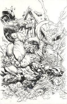 Thor vs. The Hulk by Mike Deodato Jr. *