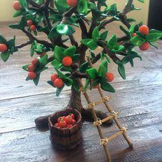 fruit tree for mums fairy garden #fairy #garden #polymer #clay #fruit #tree