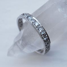 Ombre Salt and Pepper Diamond Eternity Ring by Ellie Air at EC One. Shop our edit of Ellie Air designer Jewellery online from our award winning London boutique with free postage for all U.