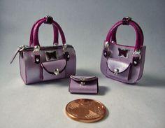 Miniaturas bolsos: Bolsos tricolor colección mariposa