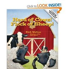 Herd of Cows, Flock of Sheep: Adventures in Collective Nouns (Language Adventures Book) by Rick Walton Teaching Nouns, 2nd Grade Ela, Second Grade, Singular And Plural Nouns, Irregular Plurals, Collective Nouns, Farm Unit, Word Study, Word Work