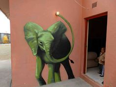 Elephant Graffiti Art In South Africa To Give People Hope Graffiti Art, Art Nouveau, Art Deco, Art Fauvisme, Pixie, Street Wall Art, South African Artists, Colossal Art, Mural Painting