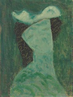 Milton Avery (1885-1965)  Fanciful Woman  signed and dated 'Milton Avery/1955' (lower left)  oil on canvasboard  16 x 12 in. (40.6 x 30.5 cm.)