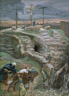 Jesus Alone On The Cross Painting by Tissot - Jesus Alone On The Cross Fine Art Prints and Posters for Sale