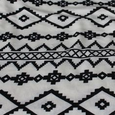 End of Bolt: 5 yards of Ethnic Black and White SweaterKnit