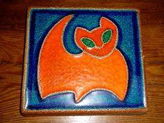 Soholm Pottery Cat Plaque