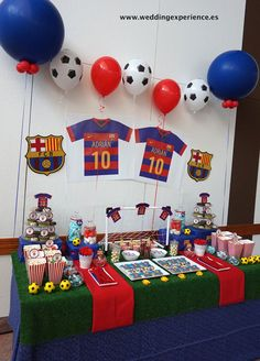 Javier Surprise Party Soccer Birthday Parties, Football Birthday, Birthday Party Decorations, Birthday Ideas, Barcelona Soccer Party, Fc Barcelona, Messi Birthday, Soccer Cake, Mexican Party
