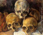 Pyramid Of Skulls2  by Paul Cezanne