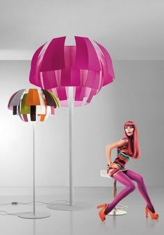 """Loving the fabulous three metre tall Plumage floor light from Axolight with its pink or multi-coloured """"feathers"""". Totally tropical! http://www.italian-lighting-centre.co.uk/advanced_search_result.php?keywords=plumage#.VPtng_msU9Y"""