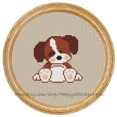 Cross Stitch Pattern PDF dog DD0001 by HappyStitches4You on Etsy