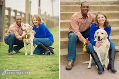 Engagement photos with dog. Yes!!! :)