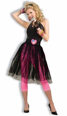 Adult Womens 80's Pop Music Star Black Skirt Costume Forum Novelties Inc. - @ScrampAlot by Judy