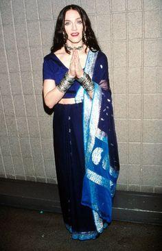 Madonna in sari