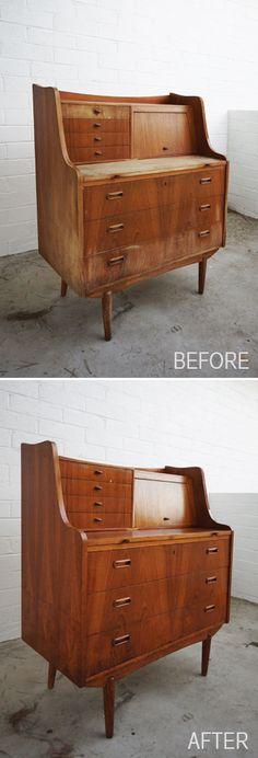 DIY : How to Revive Vintage Wood Furniture #restoration #restore #old #furniture #polish #diy #tutorial