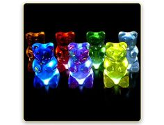 Gummi Lights are colorful, not chewy