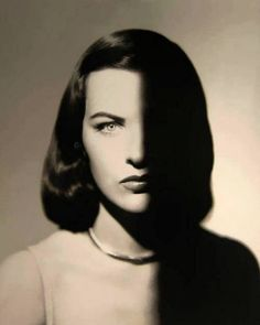 Portrait by Man Ray (1890-1976), Ella Raines (1920-1988, American film and television actress.)