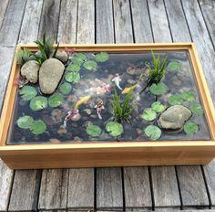 Custom made koi pond by rezinology on Etsy